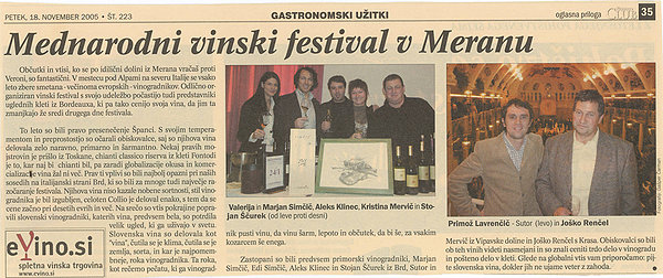 International wine festival in Merano